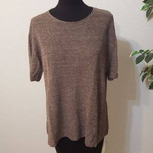 Eileen Fisher brown knit top